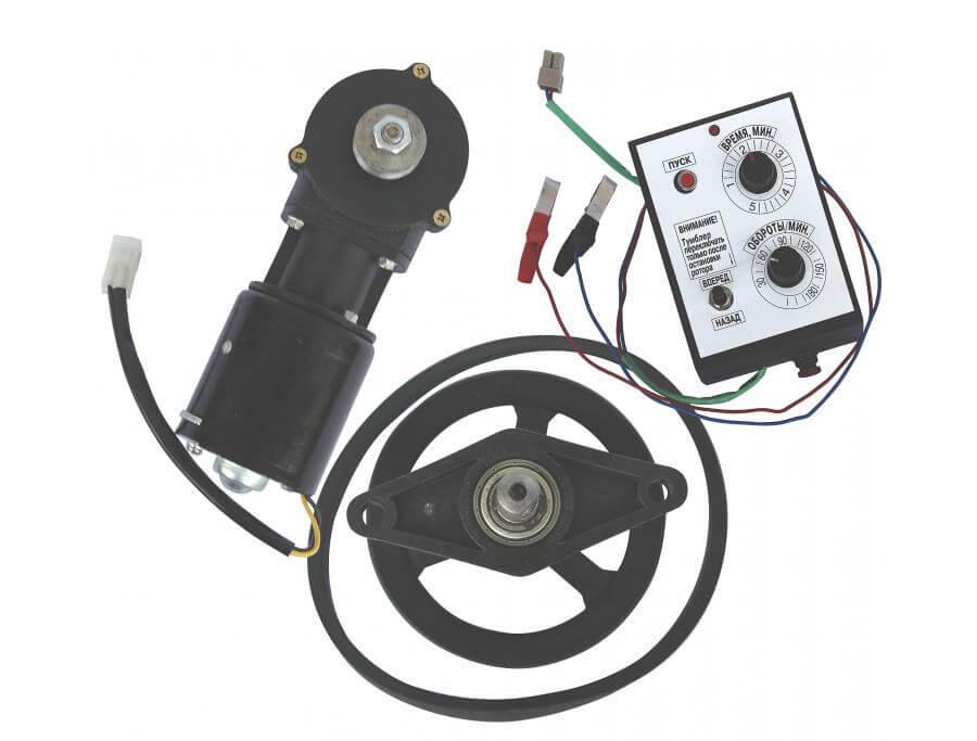 Составляющие электрического привода для медогонки