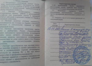 Отметки о проверках в паспорте