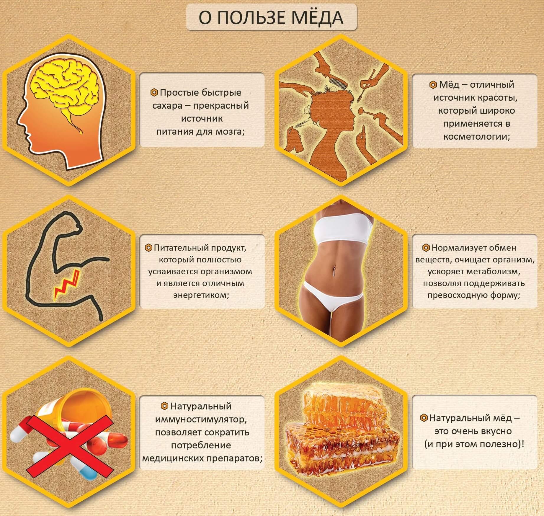 Мед отличный источник красоты, здоровья
